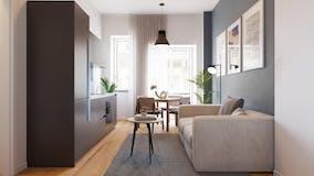 One-bedroom Apartment of 45m² in Galleria Passarella
