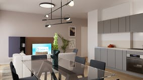 Three-bedroom Apartment of 107m² in Via Benvenuto Cellini