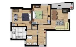 Two-bedroom Apartment of 95m² in Viale Appio Claudio