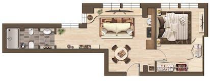 One-bedroom Apartment of 55m² in Via Francesco Baracca