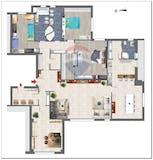 Four-bedroom Apartment of 267m² in Via Pietro Albertoni