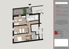 Two-bedroom Apartment of 70m² in Via Antonio Locatelli 1