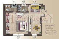 One-bedroom Apartment of 55m² in Via Leonardo Bruni