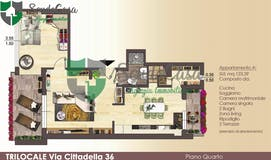 Two-bedroom Apartment of 124m² in Via Cittadella