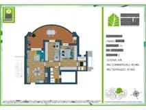 Two-bedroom Apartment of 83m² in Via Monte Del Marmo